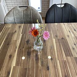 お花のある暮らし/ガーベラ/ホルムガード フローラ/ダイニングテーブル/リビングのインテリア実例 - 2021-06-12 16:02:20