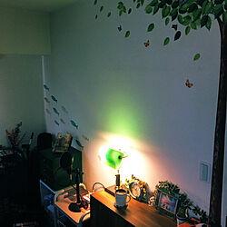 ウォールステッカー/照明/レトロ/壁/天井/緑...などのインテリア実例 - 2020-08-09 03:24:30