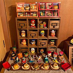 マクドナルドキャラクター/マクドナルドミールトイ/アクタスの家具/好きなものに囲まれて暮らす/壁/天井のインテリア実例 - 2020-02-06 13:37:32