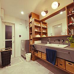 ヘキサゴンタイル/cubel 洗濯機/造作洗面台/モールテックス洗面台/バス/トイレのインテリア実例 - 2020-09-03 20:50:25