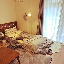 ベッド周り/1K/8.5畳/DIY/シンプル...などのインテリア実例 - 2018-10-25 07:41:26