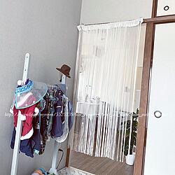 寝室は和室/寝室/ストリングカーテン/ひものれん/間仕切りカーテン...などのインテリア実例 - 2021-05-04 12:37:31