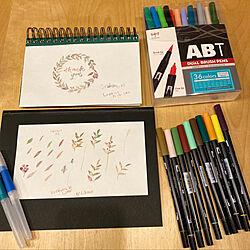 トンボ鉛筆ABT/おうち時間に是非♪♪/トンボ鉛筆水筆/以前モニターさんになってから愛用/奮発して全色買いました...などのインテリア実例 - 2020-09-17 00:39:04