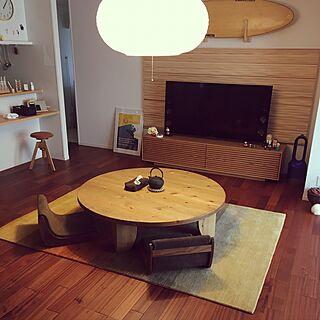 男性40歳の家族暮らし3LDK、平屋Loungeや海が好きや広松木工や名古屋モザイクタイルなどに関するTakahiroさんの実例写真