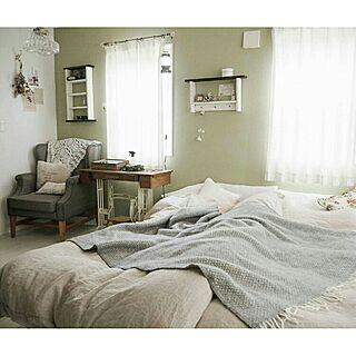 女性39歳の家族暮らし2LDK、ベッドスローに関するasasaさんの実例写真