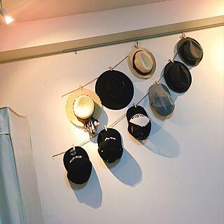 壁/天井/キャンドゥ/麦わら帽子/ハット/キャップ...などのインテリア実例 - 2017-06-28 03:53:00