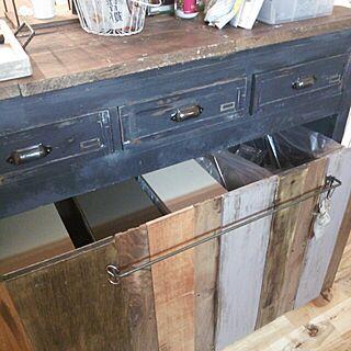 キッチン/ゴミ箱/DIY/セルフリフォーム/手作り...などのインテリア実例 - 2013-10-21 17:49:42