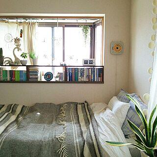 一人暮らし1K、窓辺のグリーンに関するnaoさんの実例写真
