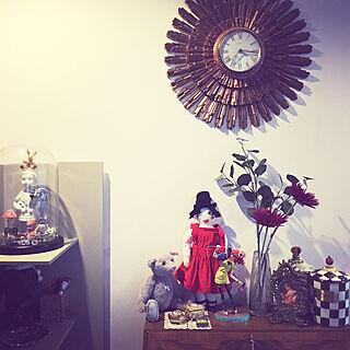 女性家族暮らし3LDK、ガラスの机に関するnayutauさんの実例写真