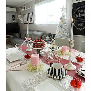 女性家族暮らし4LDK、Xmas ケーキに関するSHIROYAGIさんの実例写真