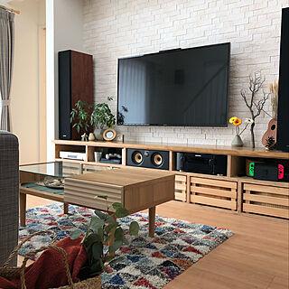 女性40歳の家族暮らし4LDK、観葉植物 テレビがしょぼいwに関するcomoさんの実例写真