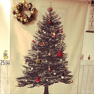 クリスマス/セリア/salut!/ダイソー/木が好き...などのインテリア実例 - 2019-12-23 19:10:04