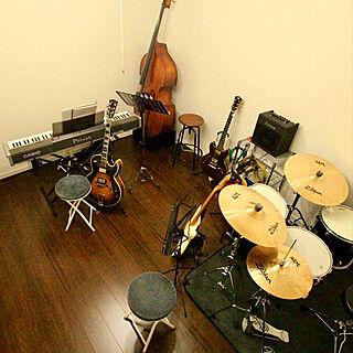 ドラム/ギター/音楽のある暮らし/音楽部屋/音楽のある生活...などのインテリア実例 - 2020-01-19 18:29:09