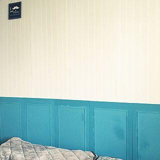 ベッド周り/和室を改造/3COINS/パーテーションDIY/パーテーション/ベニヤ板...などのインテリア実例 - 2016-02-21 08:26:21