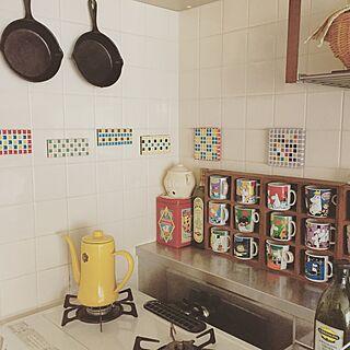 キッチン/ムーミン/アンティーク缶/ニトスキ/台所...などのインテリア実例 - 2015-06-06 13:45:33