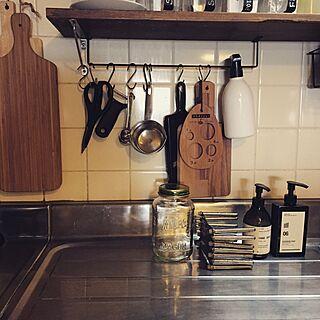 キッチン/COLONY 2139/IKEAカッティングボード/築41年中古マンション/見せる収納...などのインテリア実例 - 2016-06-07 07:40:24