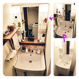女性同棲1LDK、洗面台リメイクに関するMicさんの実例写真