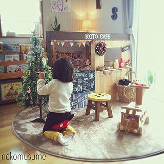 女性31歳の家族暮らし3LDK、クリスマスDIYに関するnekomusumeさんの実例写真