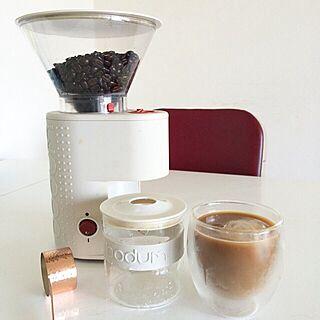 女性家族暮らし3LDK、コーヒーグラインダーに関するhitomixさんの実例写真