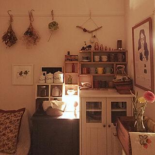 女性家族暮らし3K、初めてのドライフラワー作り!に関するkurokoさんの実例写真