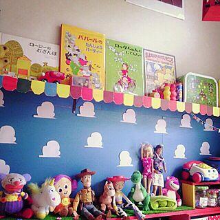 棚/子供部屋/子供部屋の棚/DIY/トイストーリー...などのインテリア実例 - 2013-10-03 13:22:43
