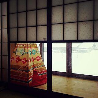 リビング/和室リビング/雪見障子/ティピーテント/縁側のインテリア実例 - 2014-02-08 12:53:40