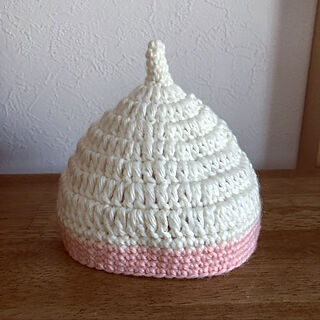 ベッド周り/出産祝い/手編み/どんぐり帽子/ハンドメイド...などのインテリア実例 - 2018-12-25 00:07:07