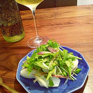 リビング/夕食/サラダ/梨/ワイン...などのインテリア実例 - 2019-09-07 20:31:19