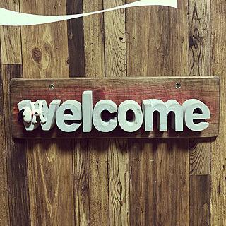 スヌーピー/Welcomeボード/ハンドメイド/DIY/モルタル...などのインテリア実例 - 2019-04-05 23:41:36