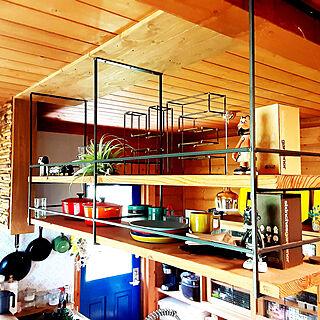 壁/天井/吊り下げ収納/植物のある暮らし/ログハウス/bess...などのインテリア実例 - 2021-08-18 19:59:19