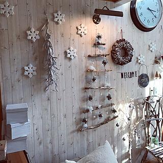 部屋全体/2017.11.16/クリスマス/北欧インテリア/流木ツリー...などのインテリア実例 - 2017-11-16 17:37:02