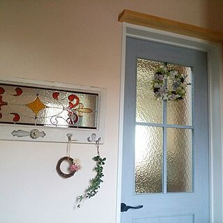 女性42歳の家族暮らし4LDK、造花あじさいに関するhainekoさんの実例写真