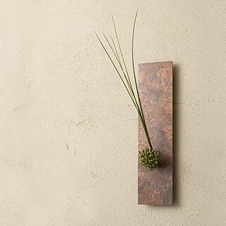 on the wall /Orii/モメンタムファクトリー/壁掛けフラワーベース/銅のインテリア実例 - 2013-10-22 17:56:53