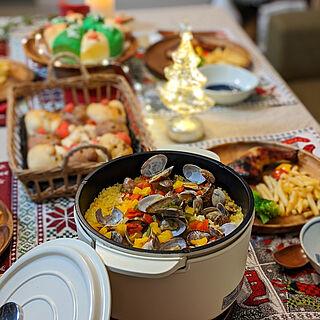 キッチン/クリスマス/お返事前にごめんなさい(இɷஇ )/クリスマスディナー/キャセロールでパエリア...などのインテリア実例 - 2019-12-26 21:13:10
