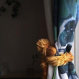 ベッド周り/IKEAカーテン/カーテン/カーテンタッセル/ぬいぐるみ...などのインテリア実例 - 2017-03-30 20:15:49