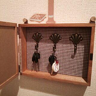 女性家族暮らし2LDK、シェル型フックに関するbatako_roomさんの実例写真