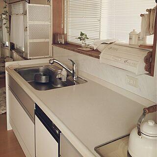 キッチン/生活感/リメイク/DIY/キッチン側からの眺めのインテリア実例 - 2013-07-31 08:56:52