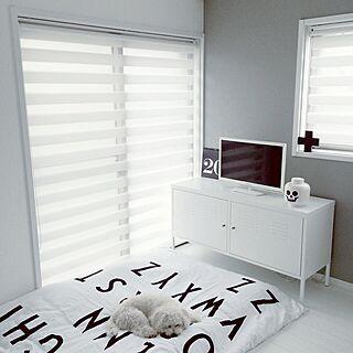 ベッド周り/IKEA/北欧/白黒/シンプル...などのインテリア実例 - 2015-08-29 22:09:28