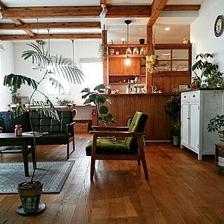男性家族暮らし、ボタニカルカフェスタイルに関するbibi.karuさんの実例写真