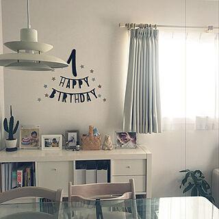 女性28歳の家族暮らし4LDK、北欧インテリアにあうカーテンに関するpiyokichさんの実例写真