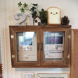 女性家族暮らし4LDK、給湯器スイッチカバーに関するfeuileさんの実例写真