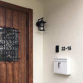 表札DIY/アイアンライト/アイアン塗料/LIXIL玄関ドア/ドア...などのインテリア実例 - 2019-05-11 23:17:28