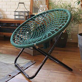 女性37歳の家族暮らし3LDK、おりたたみ椅子に関するctscandyさんの実例写真