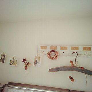 壁/天井/いなざうるす屋さん/手作りリース/プリズムの森のインテリア実例 - 2013-11-17 14:05:37