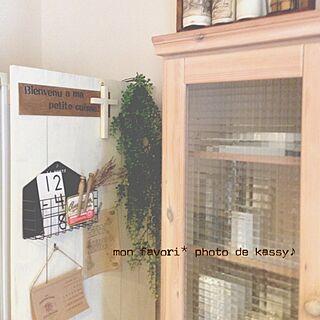 キッチン/板壁/ステンシル/クロス/ドライ...などのインテリア実例 - 2014-01-15 11:23:50