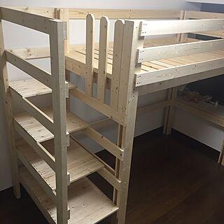 ナチュラル/ベッド/DIY/ロフトベッド/娘の部屋のインテリア実例 - 2016-10-16 20:56:23
