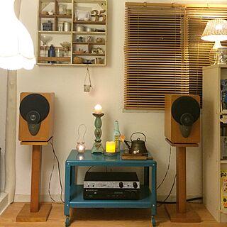 スピーカー/オーディオ/リビング/Cambridge audio/Aura/オーディオラック...などのインテリア実例 - 2015-05-17 21:16:35