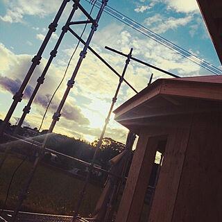 女性家族暮らし4LDK、リビングからの眺めに関するsakabeautifulさんの実例写真