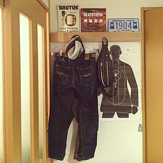 男性の、1LDK、家族住まいの「壁/天井」についてのインテリア実例