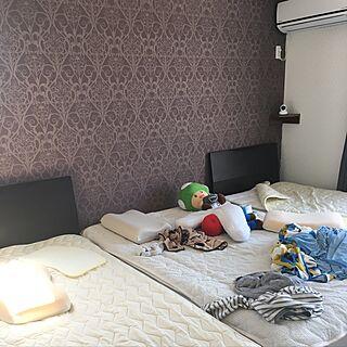 ベッド周り/無印良品 壁に付けられる家具/無印良品ベッド/マリオ/二世帯住宅...などのインテリア実例 - 2017-04-30 10:15:58